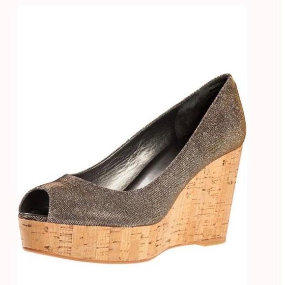Stuart Weitzman Anna style heeled wedge shoes